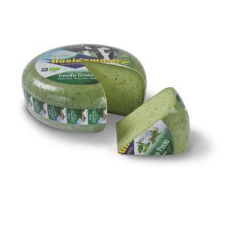 Gouda Hooidammer Pesto grün, Kuh/past/Schnitt/V, Willig
