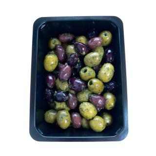 Gemischte Oliven gekräutert