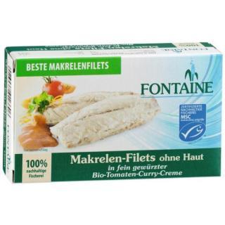 Makrelenfilets o. Haut in Bio-Tomaten-Curry-Creme
