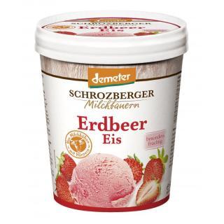 Eiscreme Erdbeer